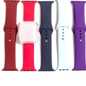 5 44mm 42mm 40mm 38mm band wine red blue purp case